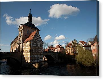 Old City Hall Located Atop The Bridge Canvas Print by Dave Bartruff