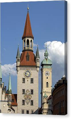 Old City Hall, Marienplatz, Munich Canvas Print by Tips Images