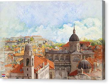 Castle Canvas Print - Old City Of Dubrovnik by Catf