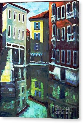 Old City Of Venice In Sunlight Canvas Print by Rita Brown