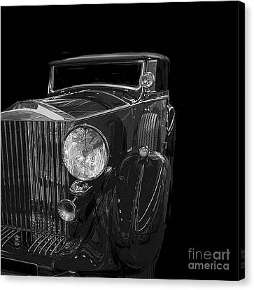 Old Classic Car Square Poster Canvas Print by Edward Fielding