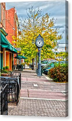 Old Clock Canvas Print by Baywest Imaging