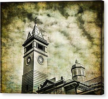 Old Clock Tower Canvas Print by Perry Webster