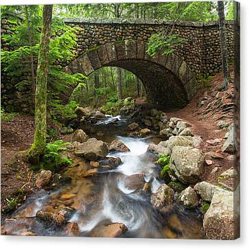 Old Cobblestone Bridge Canvas Print by Martin Radigan