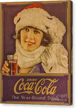 Old Coca Cola Sign Canvas Print by Mitch Shindelbower