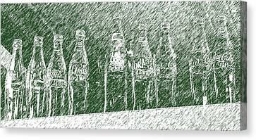 Canvas Print featuring the photograph Old Coke Bottles by Greg Reed
