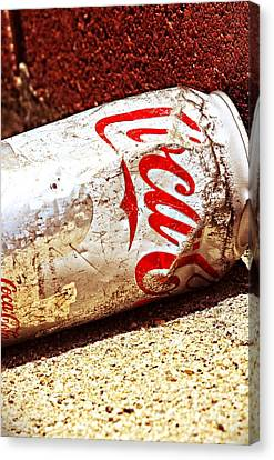Old Coke Can Canvas Print