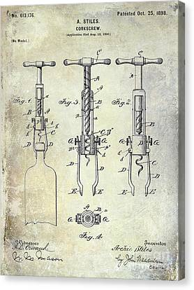 Corkscrew Patent Canvas Print