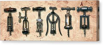Old Corkscrews Painting Canvas Print