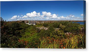 Old Cottage On Gorumna Island Canvas Print by Panoramic Images