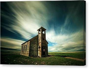 Old Cottonwood Church Canvas Print