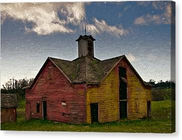Old Country Barn Canvas Print by John K Woodruff