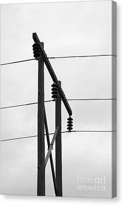 Old Country Power Line Canvas Print