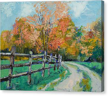 Old Country Road Canvas Print by Michael Creese