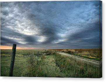 Canvas Print featuring the photograph Old Country Road by Shirley Heier