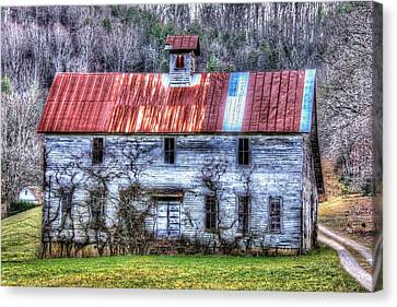 Old Country Schoolhouse Canvas Print by Tom Culver