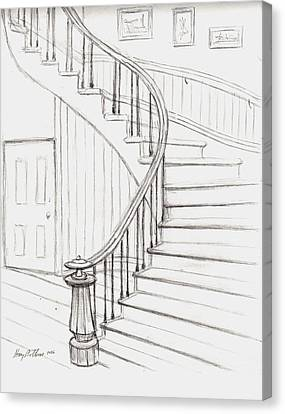 Old Courthouse Stairs Number Two Canvas Print