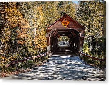 Country Lanes Canvas Print - Old Covered Bridge Vermont by Edward Fielding