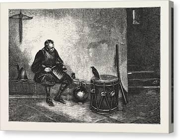 Old Cronies, Engraving 1876, Uk, Britain Canvas Print by Lucas, John Seymour (1849-1923), English