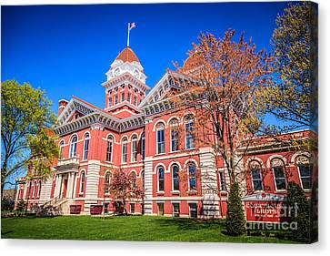 Court House Canvas Print - Old Crown Point Courthouse by Paul Velgos