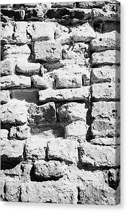 Old Crumbling Red Bricks In Building In Kazimierz Krakow Canvas Print by Joe Fox