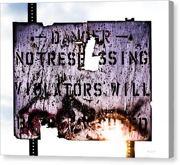 Old Danger Canvas Print by Bob Orsillo
