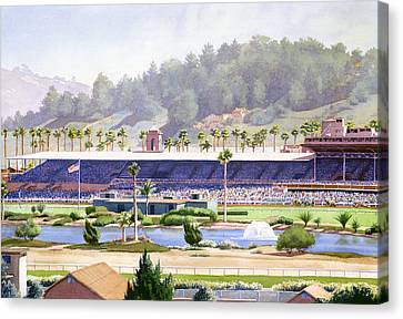 Old Del Mar Race Track Canvas Print by Mary Helmreich