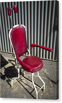 Old Dentist Chair Canvas Print by Garry Gay