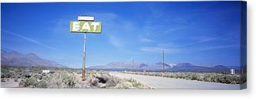 Old Diner Sign, Highway 395 Canvas Print
