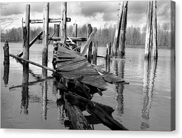 Old Dock Canvas Print by David Griffith