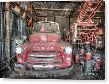 Old Dodge Fire Truck Canvas Print by Shannon Rogers