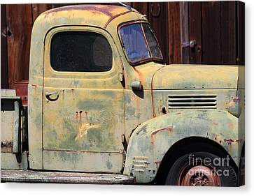 Old Dodge Truck 7d22382 Canvas Print by Wingsdomain Art and Photography