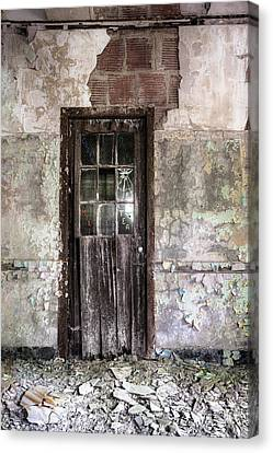 Old Door - Abandoned Building - Tea Canvas Print by Gary Heller