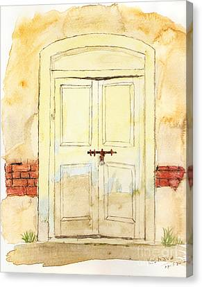Old Door Canvas Print by Keshava Shukla