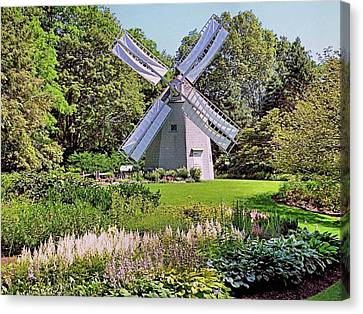 Canvas Print featuring the photograph Old East Windmill  by Janice Drew
