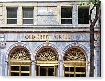 Canvas Print featuring the photograph Old Ebbitt Grill by Jemmy Archer