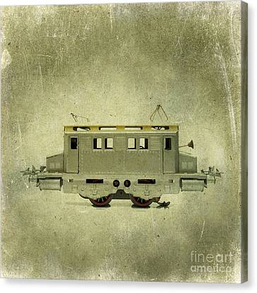 Outmoded Canvas Print - Old Electric Train by Bernard Jaubert