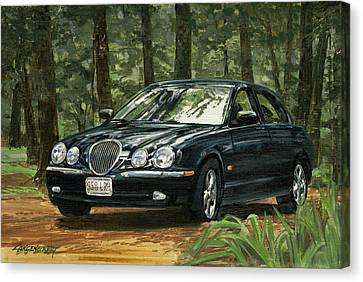 Old Faithful 2000 Jag Canvas Print by Don  Langeneckert