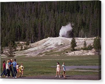 Old Faithful Canvas Print by Retro Images Archive