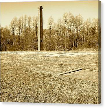 Canvas Print featuring the photograph Old Faithful Smoke Stack by Amazing Photographs AKA Christian Wilson