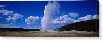 Old Faithful, Yellowstone National Canvas Print by Panoramic Images