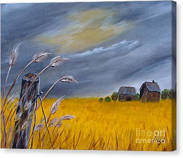 Old Farm 1 Canvas Print by Beverly Livingstone