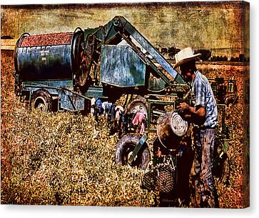 Old Farm Equipment Canvas Print by Bellesouth Studio