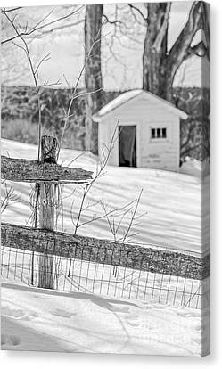 Long Cold Winter Canvas Print by Edward Fielding