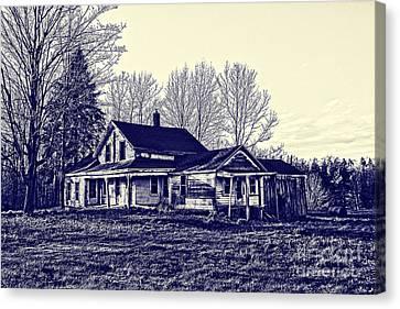Old Farm House Canvas Print by Jim Lepard