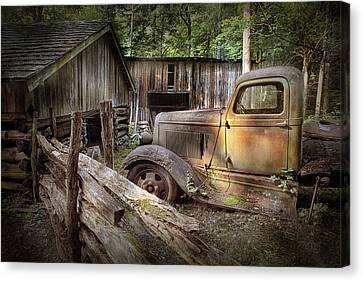 Old Farm Pickup Truck Canvas Print by Randall Nyhof