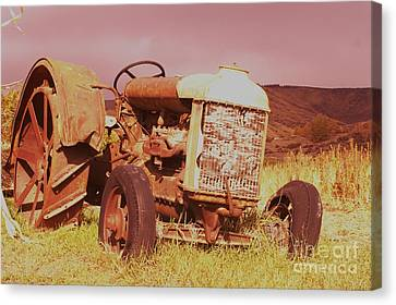 Old Farm Tractor  Canvas Print by Jeff Swan