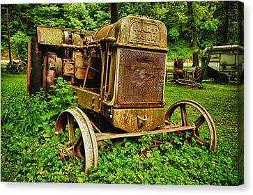 Rusted Canvas Print - Old Farm Tractor by Sebastian Musial