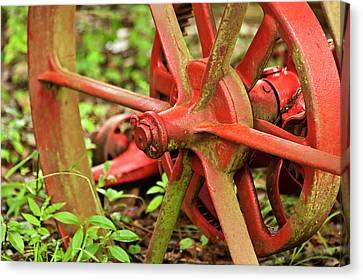 Old Farm Tractor Wheel Canvas Print