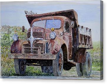Old Farm Truck Canvas Print by Anthony Butera